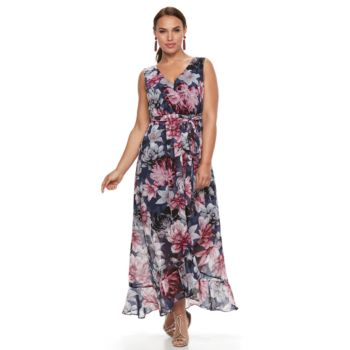 Plus Size Chaya Crossover Floral Dress