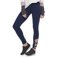 Juniors' SO® Strappy Hem Yoga Leggings