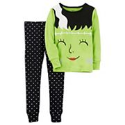 Girls 4-14 Carter's Mrs. Frankenstein Top & Polka-Dot Bottoms Pajama Set