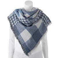 Apt. 9® Plaid Patchwork Frayed Blanket Scarf