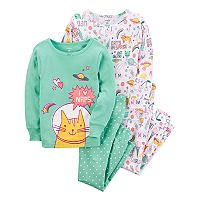 Girls 4-14 Carter's 4 pc Out of this World Cats Pajama Set