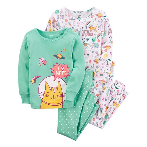 Girls 4-14 Carter's 4-pc. Out of this World Cats Pajama Set
