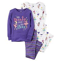 Girls 4-14 Carter's 4-pc. Ballerina Beauty Sleep Pajama Set