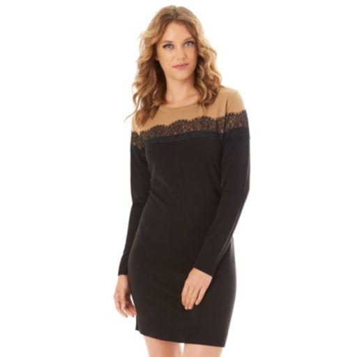 Women's Apt. 9® Lace Sweater Dress