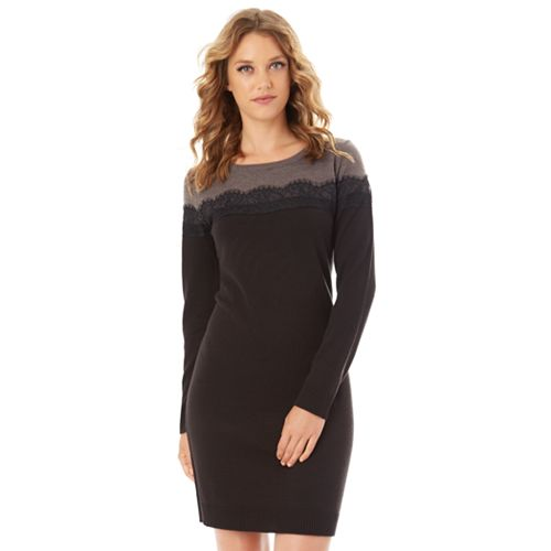 Women's Apt. 9® Lace Sweater Dress
