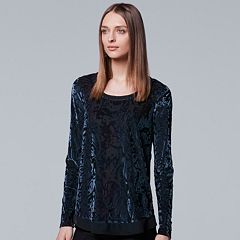 Women's Simply Vera Vera Wang Velvet Burnout Top