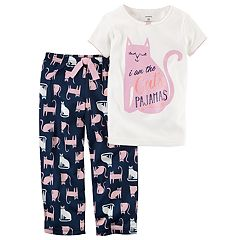 Girls 4-14 Carter's 'I am the Cats Pajamas' Top & Bottoms Pajama Set