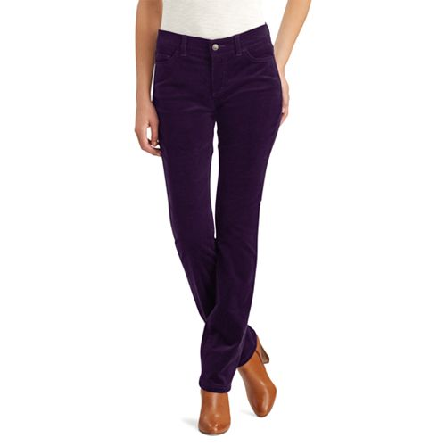 Petite Chaps 4-Way Stretch Straight-Leg Corduroy Pants