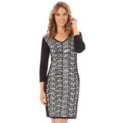 Women's Apt. 9® Panel Sweater Dress