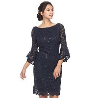 Women's Tiana B Sequin Lace Sheath Dress