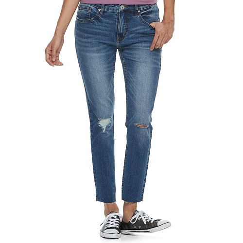 Juniors' Unionbay Zadie Ripped Skinny Ankle Jeans