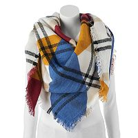 Apt. 9® Colorblock Frayed Blanket Scarf