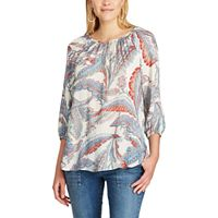 Petite Chaps Printed Georgette Blouse