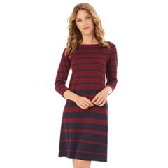 Women's Apt. 9® Stripe Swing Sweater Dress