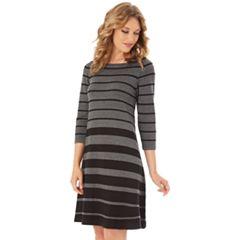 Women's Apt. 9® Stripe Swing Sweater Dress