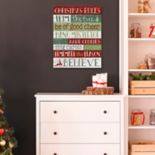 """Christmas Rules"" Wall Decor"