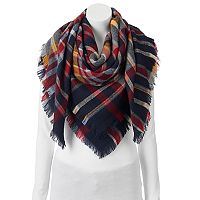 Apt. 9® Plaid Frayed Edge Blanket Square Scarf