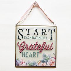New View 'Grateful Heart' Suncatcher Wall Decor