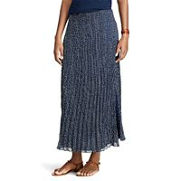 Petite Chaps Pleated Georgette Skirt