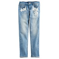 Girls 7-16 Vanilla Star Skinny Crochet Jeans