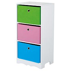 Home Basics Kids 3-Drawer Storage Shelf