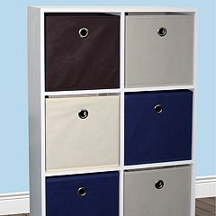 Home Basics 6-Cube Storage Shelf & Bin Set