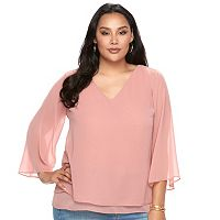 Plus Size Jennifer Lopez Chiffon Top