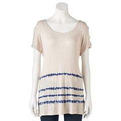 Women's French Laundry Crisscross Ribbed Top