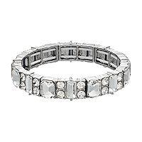 Simulated Crystal Rectangular Stretch Bracelet
