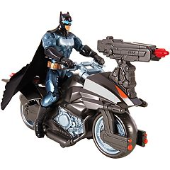 Justice League Batman Figure & Batcycle Vehicle Set