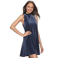 Juniors' Mudd® Velvet Swing Dress