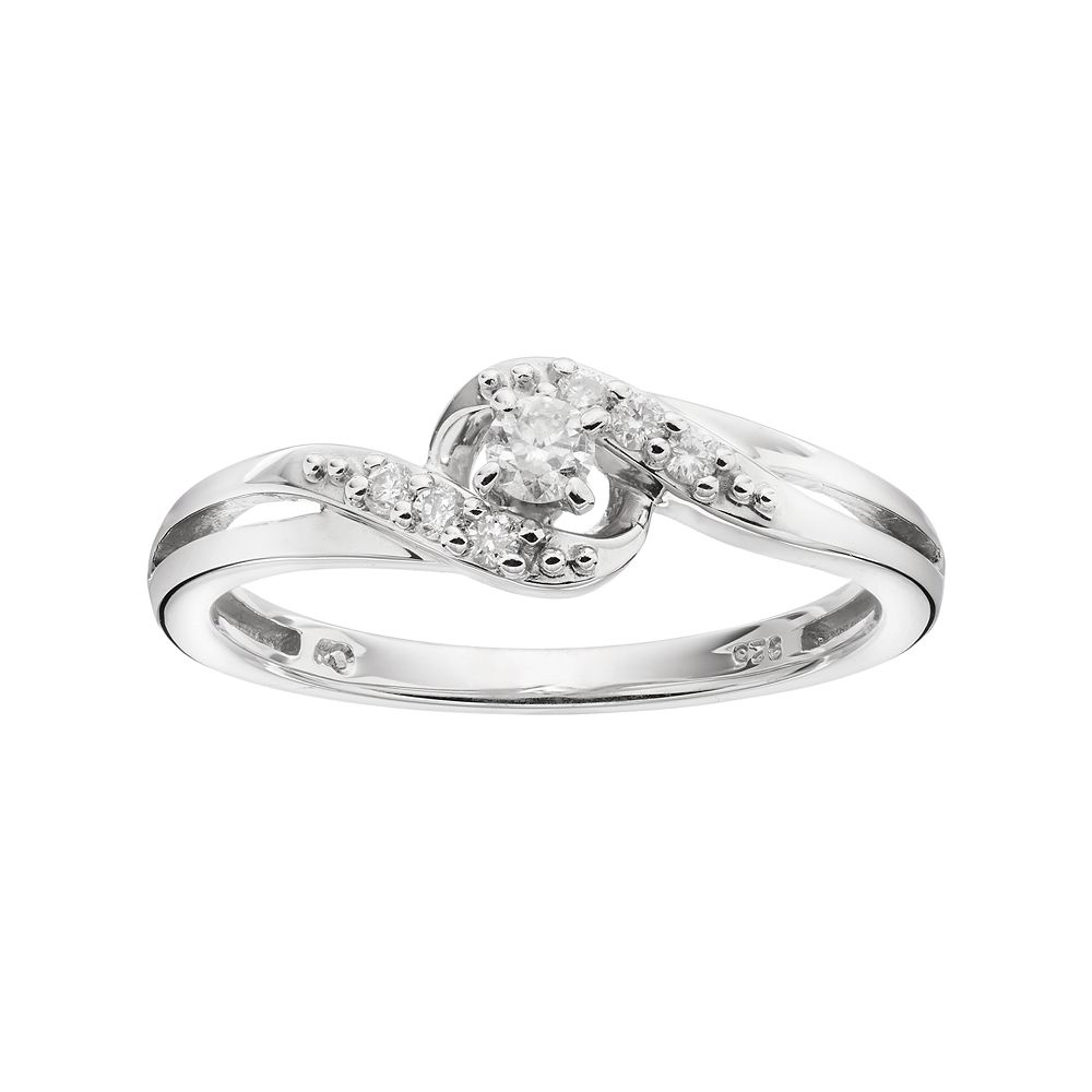 78974a6ac I Promise You Sterling Silver 1/6 Carat T.W. Diamond Bypass Promise ...