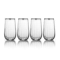 Mikasa Haley Platinum 4-pc. Highball Glass Set