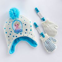 Disney's Frozen Elsa Toddler Girl Hat & Mittens Set