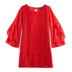 Girls 7-16 My Michelle Crocheted Shift Dress