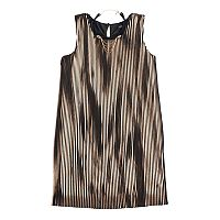 Girls 7-16 My Michelle Metallic Pleated Dress with Choker Necklace