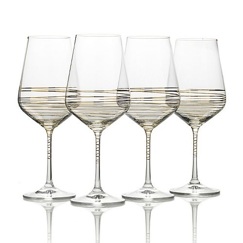 Mikasa Electric Boulevard 4-pc. Wine Goblet Set
