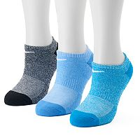 Women's Nike 3 pkBright Cushioned Performance No-Show Socks