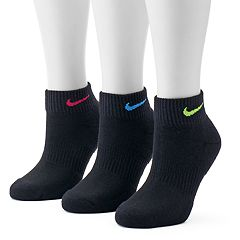 Women's Nike 3 pkEasy Cushioned Quarter Socks