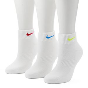 Women's Nike 3-pk. Easy Cushioned Quarter Socks