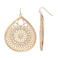 Jennifer Lopez Openwork Teardrop Earrings