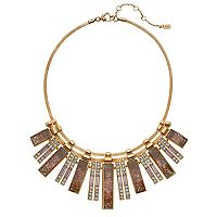 Jennifer Lopez Simulated Crystal Bar Statement Necklace