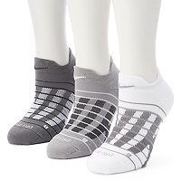 Women's Nike 3-pk. Block Graphic Cushioned No-Show Socks