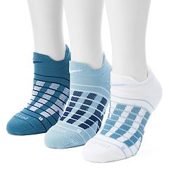 Women's Nike 3-pk. Block Graphic Cushioned No-Show Socks