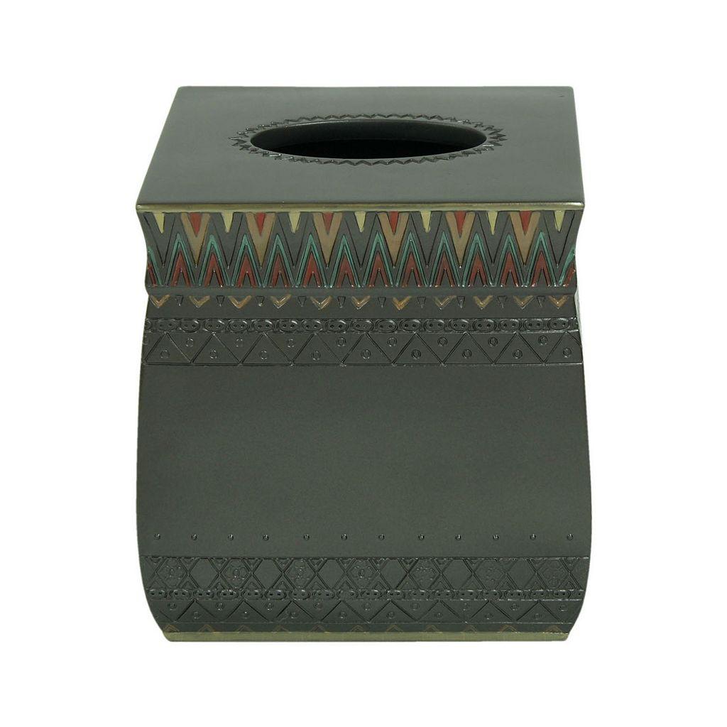 Bacova Sierra Zigzag Tissue Box Cover