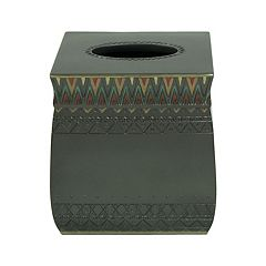 Bacova Sierra Zigzag Tissue Box Cover