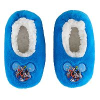 Disney's Mickey Mouse Toddler Boy Applique Plush Slipper Socks