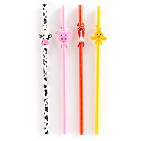 Kikkerland Farm Animal Paper Straws