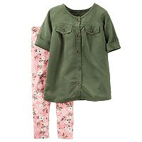 Baby Girl Carter's Button-Down Tunic & Legging Set