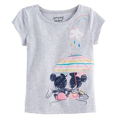 Disney's Mickey Mouse & Minnie Mouse Toddler Girl Umbrella Graphic Tee by Jumping Beans®